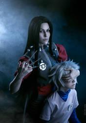 Illumi and Killua Zoldyck cosplay by Elena89Hikari