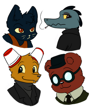 Night in the Woods Icons by S1Dni
