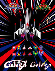 Galaga Themed Bar-top Arcade - Vector Assets by Sonic840