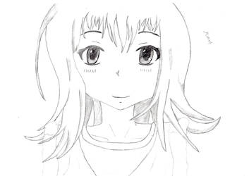 Cute anime or manga girl by FriedrichEngelh