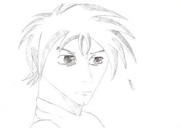 Anime boy drawing by FriedrichEngelh