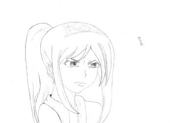Angry anime girl by FriedrichEngelh