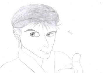 Self-Portrait anime style by FriedrichEngelh