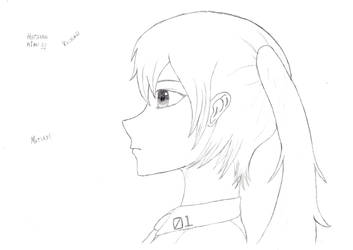 Hatsune Miku side face by FriedrichEngelh