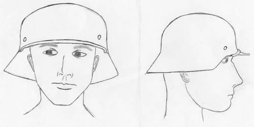 German Helmet sketch by FriedrichEngelh