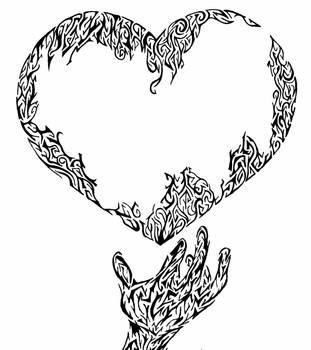 heart n hand by dvsbabygurl