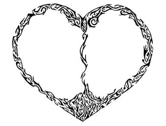 Heart split by dvsbabygurl