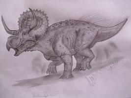 Nasutuceratops titusi by Teratophoneus