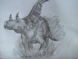 Chasmosaurus russelli by Teratophoneus