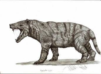 Hyaenodon gigas by Teratophoneus