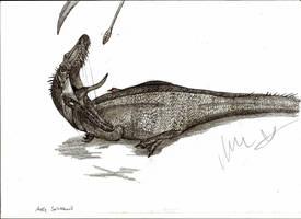 Australian Spinosaurid by Teratophoneus