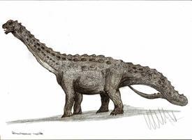 Diamantinasaurus matildae overworked by Teratophoneus