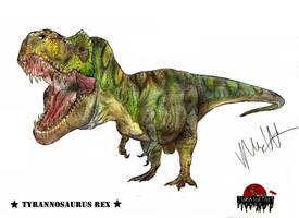 JP-Expanded Tyrannosaurus rex  by Teratophoneus