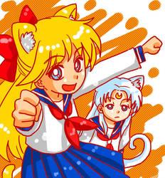 Mina-P and Artemisu by lisGinka