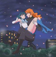 Sailor Mercury and Zoisite by lisGinka