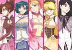 Sailor Moon x Madoka Magica by lisGinka