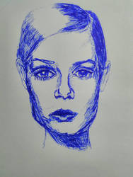 It is an attempt to draw Twiggy with pen :) (fail) by emilijaelenaeva