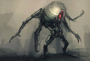 Four Armed Robot by blee-d