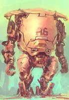 Rainbow Icecream Robot! by blee-d