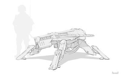 Military Drone sketch by blee-d