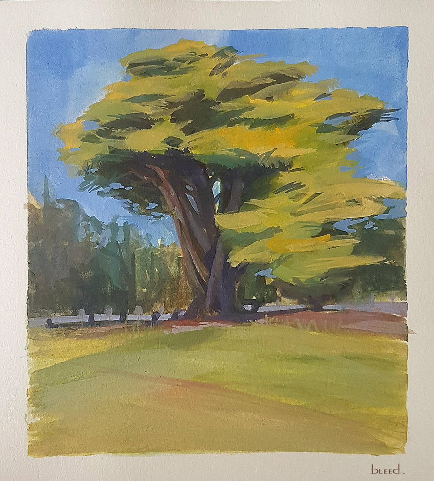 Gouache Tree by blee-d