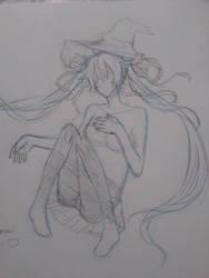 Snow Miku Sketch by SweatersAreLife