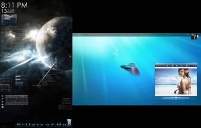Dual Monitor Desktop by Viper0603