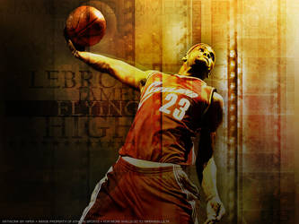 Lebron James 'Flying High' by Viper0603