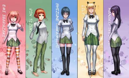Katawa main cast by yukira0