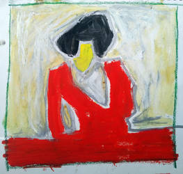 Woman In Red by timbroadwater