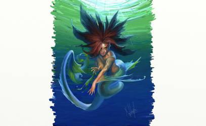 mermaid by nabellamalinka