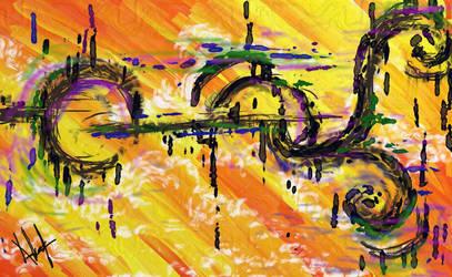 abstract sunset by nabellamalinka