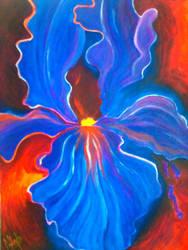 abstract flower by nabellamalinka