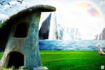 A Colorful World - Wallpaper by ArtBasement