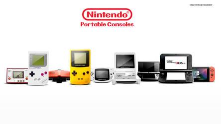 Evolution of Nintendo Portable Consoles by ArtBasement