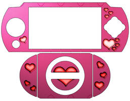 Cinnamon Hearts PSP Skin by Juritsu