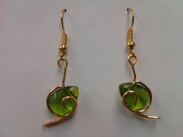 Kokiri's Emerald Earrings by meimmo