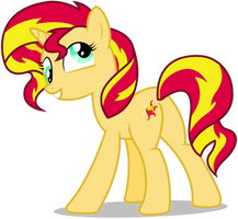 Sunset Shimmer - Derp by CaliAzian