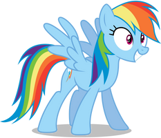 Rainbow Dash - Excited by CaliAzian