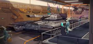Battletank Factory by KahzeArt