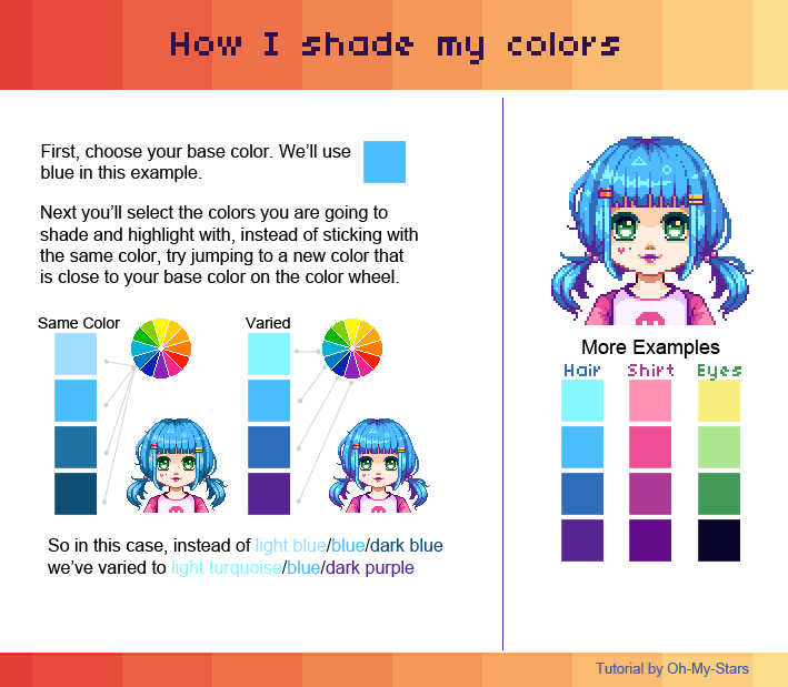 Mini Color Shading Tutorial By Oh My Stars On Deviantart