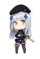 Hk416 from Girl frontline by xXDukeeXx