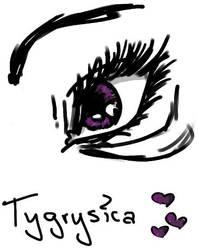 purple eye-D by Tygrysica