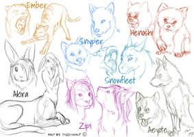 Sketch Stream Sheet by IndiWolfOnline