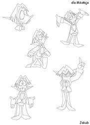 Count Duckula - lineart by JacobMainland