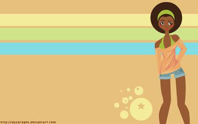 Afro Girl Wallpaper by abzdragon
