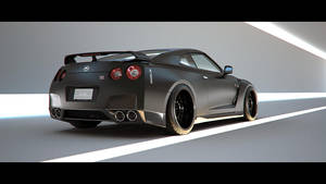 Matte Black GT-R by advanRE7