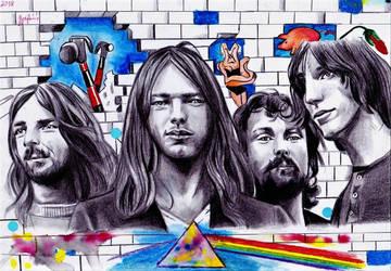 Pink Floyd by ZuzanaGyarfasova