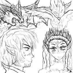 Dragon and Phoenix by Dany-Tactician