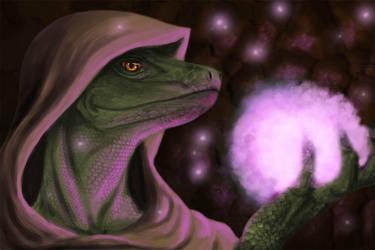 Argonian Mage by JoyAffliction